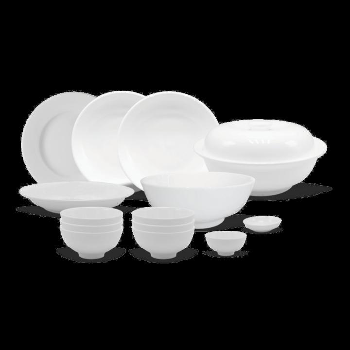 bộ bàn ăn sứ trắng