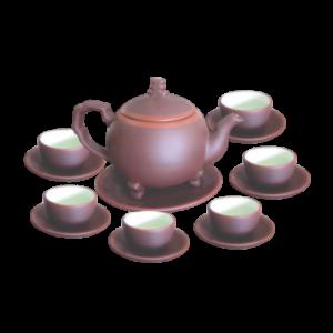 Bộ trà hồng sa tùng đỏ