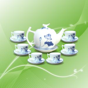 bộ trà trăng khuyết thanh liên