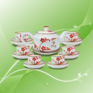Bộ trà vẽ đào