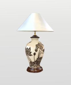 Đèn ngủ khắc hoa sen