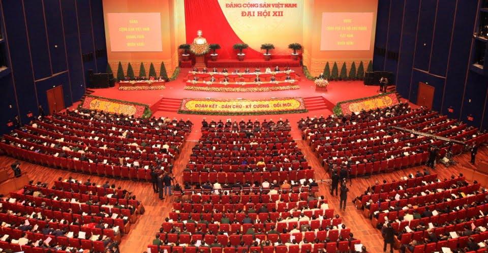 hình ảnh khai mạc đại hội đảng khoá 12